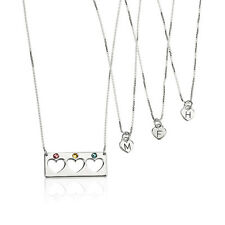Mother Daughter Bar Necklace Set with Birthstones - Silver 925 - oNecklace ®