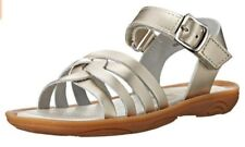 Umi Toddler Girls Cora Casual Open Toe Leather Sandal Shoes Platinum 33432