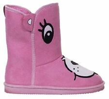 IRON FIST CARE BEARS STARE CARTOON ADORABLE CUTE PINK FUGG BOOTS SHOES SIZE 7-10