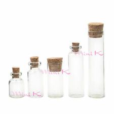 Clear Empty Glass Bottles With Corks Sample Small Vials Jars Sample Wholesale