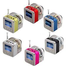 Portable Micro SD TF USB Mini Stereo Speaker Music Player FM Radio MP3 MP4 T6YR