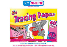 A4 Tracing Paper 60 Sheets Creative Fun Trace Picture Photo Learn Drawing Paper