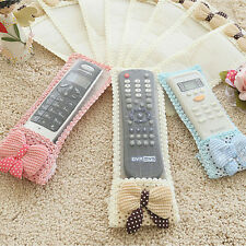 Bowknot Lace Remote Control Dustproof Case Cover Bags TV Control Protect Best