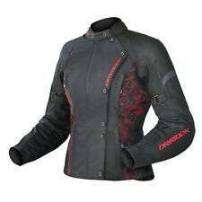 DRIRIDER LADIES VIVID JACKET BLACK/RED RUBY