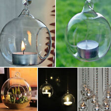 1Pcs Fashion Candle Holder Hanging Clear Globe Glass Terrarium Air Plant Decor