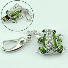 Novelty Crystal Frog 4GB-32GB USB Flash Memory Stick Pendant Drive Thumb U Disk