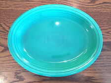 Vintage HLC Fiesta Fiestaware Original Light Green Oval Serving Platter 12 1/2""