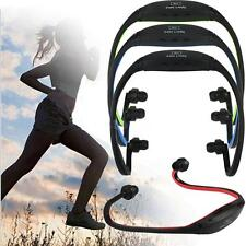 Running Sports MP3 Music Player TF FM Wireless Headset Headphones Earphones V6ZF