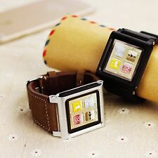 Leather Bracelet Watch band Wrist Strap for iPod Nano 6 6th Gen Case USA Stock