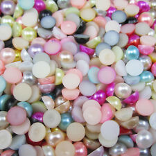 35pcs Half Pearl Beads Flat Back 12mm Scrapbook for Craft FlatBack pick color