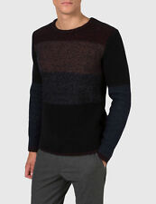 J.LINDEBERG MEN'S GOLF SWEATER BLACK OMBRE SWEATER M MARVIN HEAVY SIZE LARGE NWT