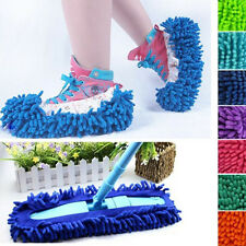 2Pcs Practical Chenille Mop Slippers Dust Floor Cleaning Mopping Foot Shoes