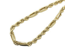 10K Yellow Gold 6MM Wide Milano Rope Link Combo Chain Necklace 18-28 Inches