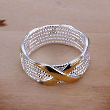 New wholesale Women Ring fashion Jewelry 925 sterling silver plated Size 6-10 b