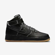 New Men's Nike Air Force 1 High Shoes (315121-028)  Black/White/Metallic Silver