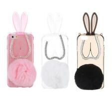 Ultra-thin Cute Plush Bunny Rabbit Soft TPU Back Case Cover for iPhone 6 6S 4QS3