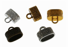 Exquisite DIY End Caps Bead Stopper Fit 12*7mm Leather Cord Jewelry Making 30Pcs