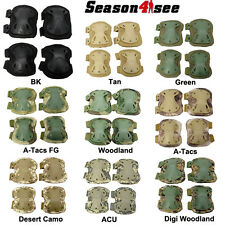 9 Color Universal Army Airsoft Tactical X Shape Knee & Elbow Protective Pads
