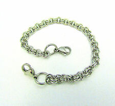 Stainless Steel Double Loop Lobster Clasps Bracelet Chain for Floating Locket