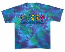 Grateful Dead Tie Dye T Shirt Dancing Bears LICENSED,M, L, XL, 2XL