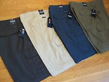 NWT, $60. - $70. MSRP, Mens Chaps 100% Cotton Cargo Shorts Style # 21521 & BNT