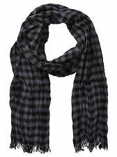 John Varvatos Star USA Scarf Gingham Shadow Merino Wool SCW2649 $75 msrp NWT