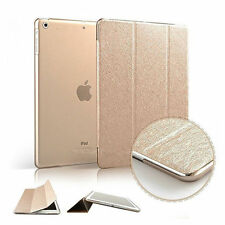 Magnetic Slim Sleep Wake Silk Leather Stand Smart Case Cover For Apple iPad Air
