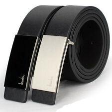 Mens Luxury Leather Automatic Buckle Chic Formal Waist Strap Belts Buckle Belt