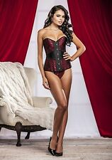 iCollection Lingerie 7275 Sweetheart Victorian Brocade Corset And G-String