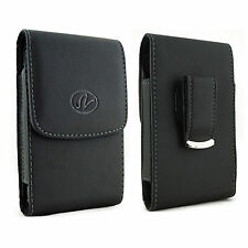Large Leather Case Holster fits w/ Otterbox on Cricket ZTE Phones