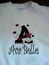 Personalized Embroidered Girls Gymnastic Gymnast Dance Shirt Toddler size