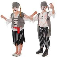 BOYS GIRLS KIDS ZOMBIE PIRATE GHOST HALLOWEEN FANCY DRESS COSTUME OUTFIT NEW