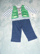 NWT Little Me 2 Piece Ski Instructor Shirt and Pant Set Size 6 9 months