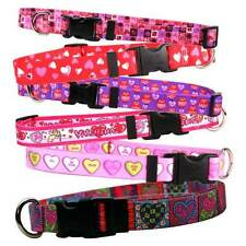 VALENTINES DAY Dog Collars * 17 Unique Designs * Puppy Love Themed Pet Styles