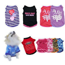 New Unisex Pet Dog Cat Clothing Summer Puppy Dogs Vest T Shirt Apparel Costume