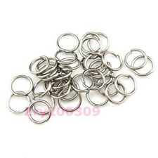 Dull Silver Plated Open Jump Rings Connectors 4mm,5mm,6mm,7mm,8mm,20mm R0003
