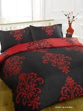 Savoy Black Duvet Bedding Set - Single-Double-King Size-Super King Size