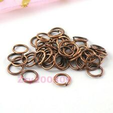Antiqued Copper Open Jump Rings Connectors 4mm,5mm,6mm,7mm,8mm R0005