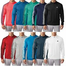 2016 Adidas Golf 3-Stripes Sleeve 1/4 Zip Pullover Lightweight Mens Golf Sweater