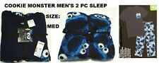 COOKIE MONSTER/SESAME STREET 2 PC KNIT SLEEP/SIZE MED CHOOSE # 1 NEW/TAG
