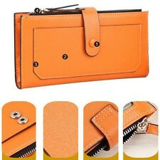 Ladies Womens Top Leather Clutch Bifold Wallet Card Holder Money Clip Purse