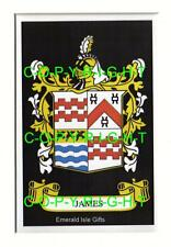 """JAMES Family Crest Coat of Arms - Mount or Framed - 10"""" x 8"""" inches"""