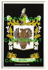 """REIDY Family Crest Coat of Arms - Mount or Framed - 10"""" x 8"""" inches"""