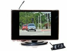 """3.5"""" Car Reverse Wireless Color TFT LCD Monitor Rear View Night Vision Camera US"""