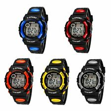Waterproof Kids Child Boy girl Silicone Led Digital Sport Quartz Wrist Watch