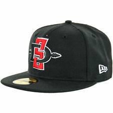 New Era 59Fifty SDSU San Diego State Aztecs Fitted Hat (Black) Men's NCAA Cap