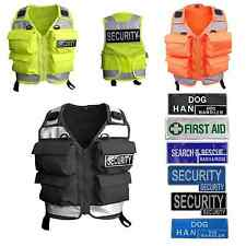 Niton Tactical 4 Pocket Utility Vest - In Hi-Vis Yellow, Black and Orange