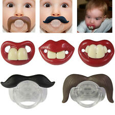 Funny Teeth Mustache Baby Boy Girl Infant Pacifier Orthodontic Dummy Nipples New