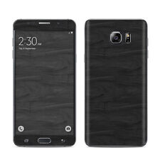 Black Woodgrain Skin For Galaxy Note 1 2 3 4 5 Edge Vinyl Sticker Decal Cover