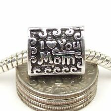 Mother's Gift,Love You Mom Mother charm bead Fit European charm bracelet